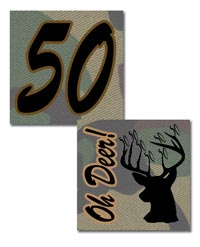Free Printable 50th birthday deer stickers or cupcake toppers