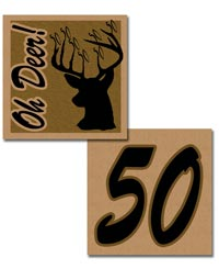 Free Printable 50th birthday stickers or cupcake toppers deer