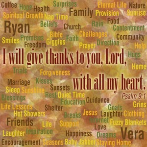 Thanksgiving, thanks, thankful, psalm 9:1, I will give thanks to the Lord