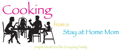 cooking from a stay at home more, cooking from a sahm, logo design, blog header, tara darcy designs, westfield, il