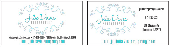julie davis business cards