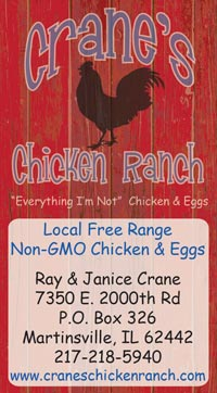 cranes chicken ranch, business card, business card design, business branding, marketing, tara darcy designs, westfield, martinsville, il