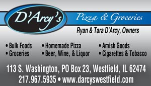 D'Arcy's pizza groceries D'Arcy Family Enterprises Westfield, IL