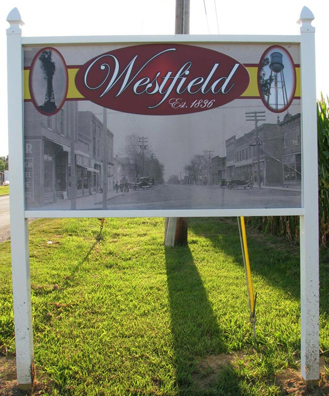 village of westfield, il entrance sign