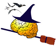 brain logo witch