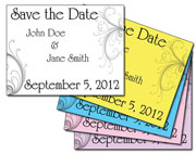 elegant swirl save the date